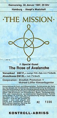 THE MISSION & ROSE OF AVALANCHE • 9 Konzertfotos • Live in Hamburg 1987!