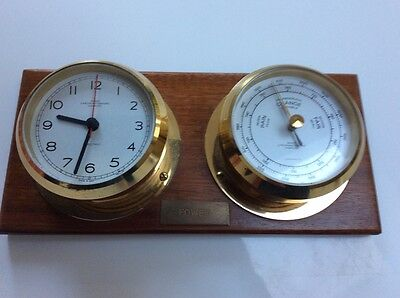 Clock and Barometer by Wempe Hamburg