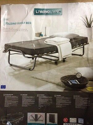 Folding Single Visitor Z Guest Bed With Mattress And Headboard | Free Delivery