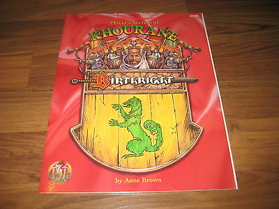 AD&D 2nd Edition BIRTHRIGHT Player's Secrets of Khourane TSR 3123 New New Sealed