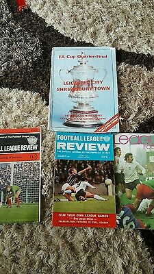 Leicester Programme And Football League Review