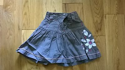 Girls khaki skirt with embroidered flowers - Next - 12-18 months