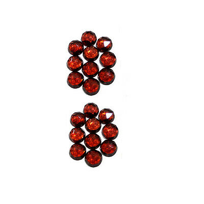 AAA 20 Pcs 6mm Round Rose Cut Faceted cabochon Natural Red Garnet Loose Gemstone