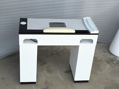 VB SS (900 mm wide ) Marble Top Manicure Table - White/Black set of 2 tables