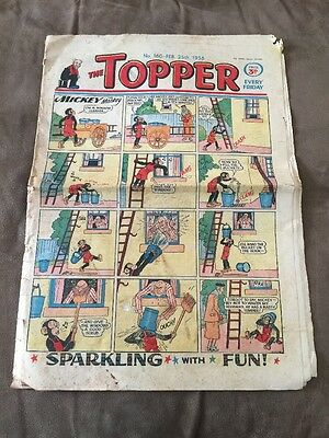 THE TOPPER Comic - Number 160 ~ 25th Feb 1956