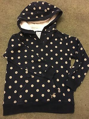Girls Joules Navy Spotty Hoodie Age 6