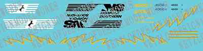 N Scale Norfolk Southern AC44C6M Decal Set - NS 4000/4001