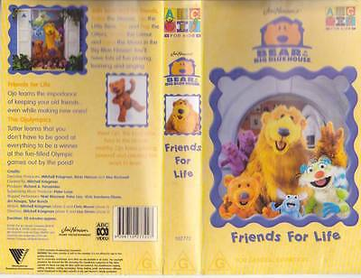 Bear In The Big Blue House Friends For Life Vhs Pal Video Rare