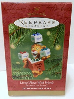 2001 Hallmark Ornament Between The Lions Lionel Plays With Words