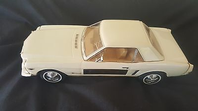 Vintage Jim Beam White Ford Mustang Decanter Empty
