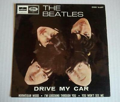 """THE BEATLES - Drive My Car + 3 (7""""EP) First Pressing Odeon Spain 1966."""