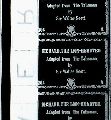 8mm Film -  RICHARD THE LION-HEARTED - ( 1912 OR 1923 ) - B/W - SILENT  -  200'