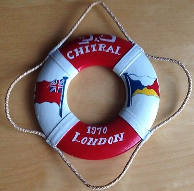 Vintage miniature Life buoy from 'The Chitral' Ship 1970