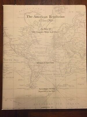 The American Revolution Atlas Of 18th Century Maps & Charts Naval History Divisi