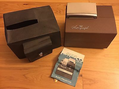 Vintage 1960's Airequipt Superba 44A Slide Projector ~ With Case Original Manual