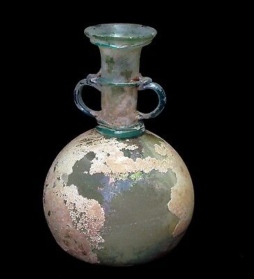 Stunning Roman Glass Bottle Amphora