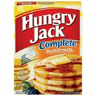 Hungry Jack Buttermilk Complete Pancake & Waffle Mix 907g (32oz) - American