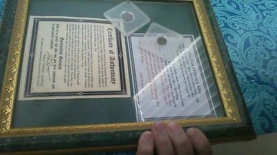 """""""COIN"""", """"POOR WIDOW'S MITE"""" with COA"""