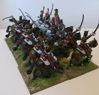 12x28mm Perry miniatures painted Napoleonic French 7th hussars