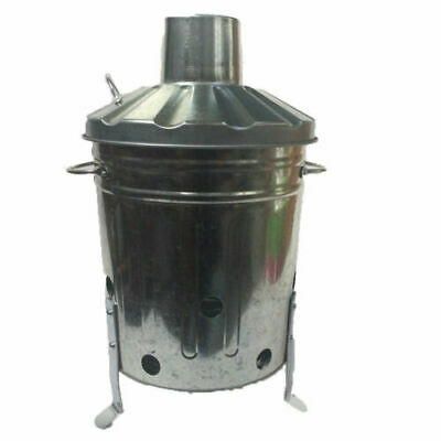 Mini Garden Incinerator Small Fire Burning Bin 15l Litre