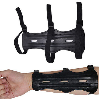 PU Leather 3 Strap Shooting Target Archery Arm Guard Protection Safe Strap SL