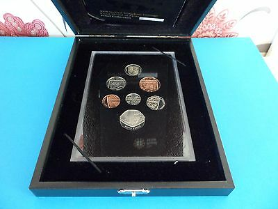 Royal Mint 2008 Deluxe Proof Coin Set, Royal Shield Of Arms - Boxed With Cert