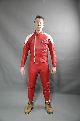 VINTAGE IXS MOTORCYCLE LEATHER RACING SUIT 80's