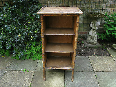 Charming Victorian Bamboo Open Bookcase 1837-1901