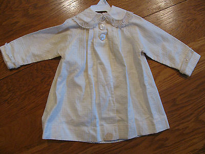 Vintage Toddler Girl's Handcrafted White Coat w/ Lace Trimmed Collar