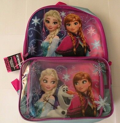 Disney's Frozen Anna & Elsa Girls Backpack & Lunch Box Set - Disney -(MSRP $30!)