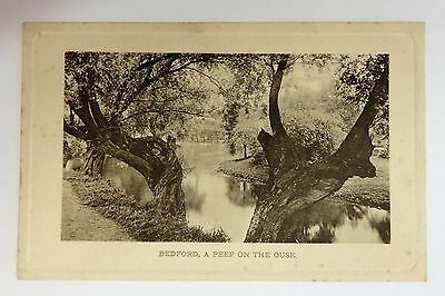 Vintage postcard, Beford, A Peep on the Ouse.