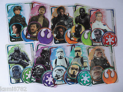 Topps Star Wars Rogue One Plastic Cards 193-202