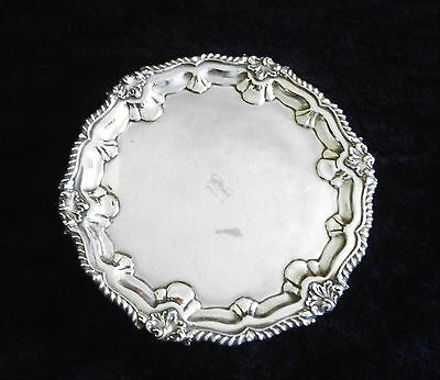 Heavy Silver Plated Tray / Platter, Raised on 3 Feet.