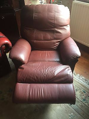 The Lars Rise & Recliner Armchair-Burgundy Leather