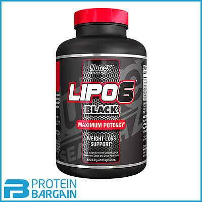 Nutrex Lipo 6 Black 120 Caps Maximum Potency Fat Burner & Weight Loss Aid