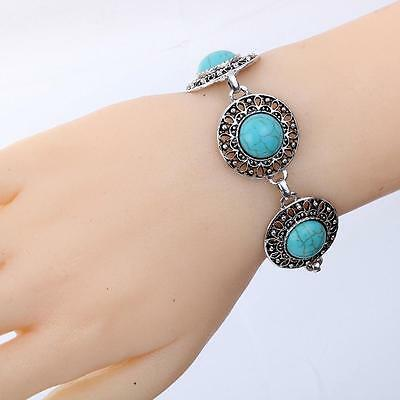 New - Vintage Reproduction Tibetan Turquoise Bracelet - Uk Seller - Free P & P
