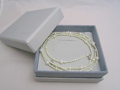 """Mikimoto PERLITA Freshwater Pearl Strand Long 31.5"""" Necklace with SV clasp AUTH!"""
