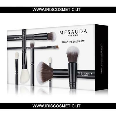 Mesauda Kit Pennelli Make Up Professionali 8 Pz Essential Brush Set Pochette New