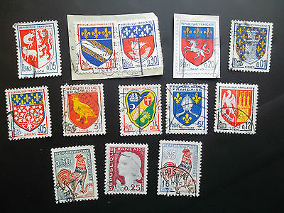FRANCE selection of old used FRENCH Postage Stamps