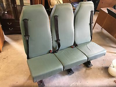 Ford Transit Van Triple Rear Seats With Seatbelts And Brackets