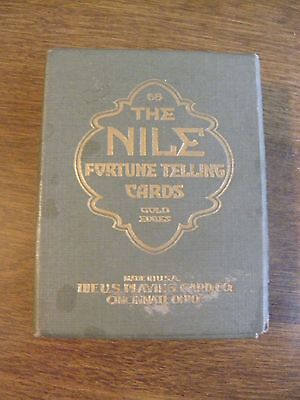 Vintage Deck of The Nile Fortune Telling Cards Gold Edges in Box