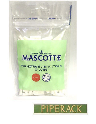 1 2 4 6 12 20 Mascotte XL Extra Long Cigarette Filter Tips Extra Slim CHEAPEST