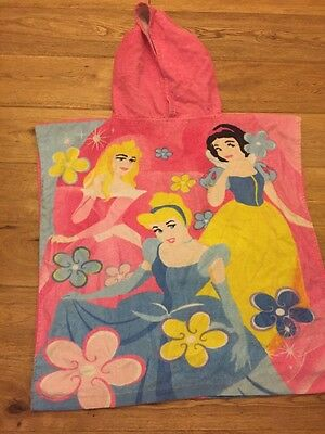 "Disney Princess Girls Hooded Towel 3-7 Years, 23"" Long"