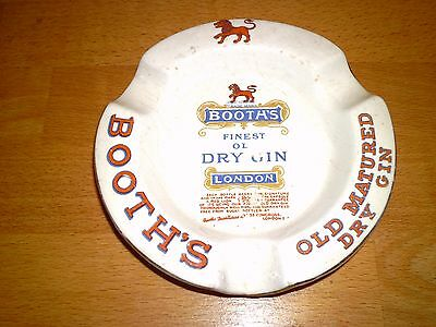 1930/40s Booths Gin Ceramic ashtray