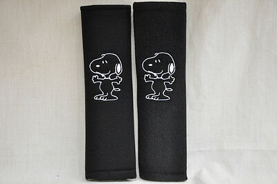 Peanuts Snoopy Embroidery Car Seat Belt Shoulder Pads