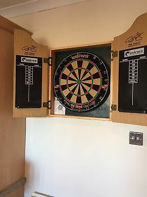 Phil Taylor Dart Board With Cabinet