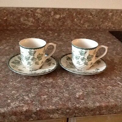 Bhs Country Vine 2 X Cups And Saucers