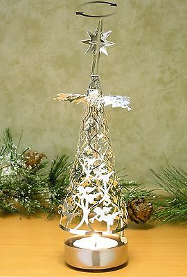 Spinning Christmas Tree Candle Holder with Angels Scandinavian Design
