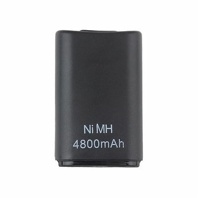 4800mAH Rechargeable Battery Pack for Xbox 360 Wireless Controller Black Dual D#