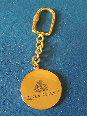 Queen Mary 2 - Cunard - Keyring - Coin Style